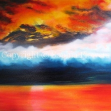 'Compton Beach - Fire at Night'