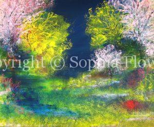'Midnight Garden' (30x24) - Oil - Copy