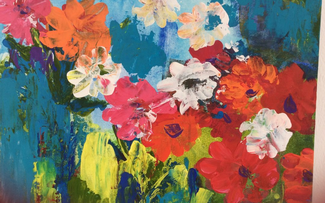 Building up a Flower Painting in Acrylic